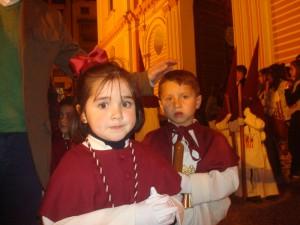 Numerosos niños iban en el cortejo de Los Judíos.