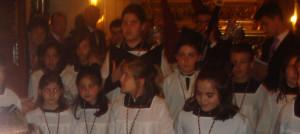 Las voces blancas, una de las novedades de la procesión.