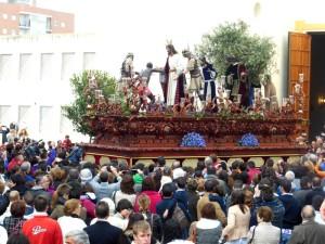 Salida de El Prendimiento desde la Iglesia de EL Carmen.