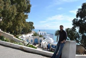 Rubén asegura que su vida cada día es diferente en Túnez.