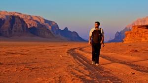 Rubén, en el Desierto de Wadi Rum, Jordania.