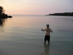 En Honduras, en la Isla de Roatan.