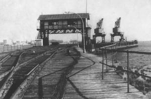 Una imagen del Muelle de Tharsis datada en 1940.