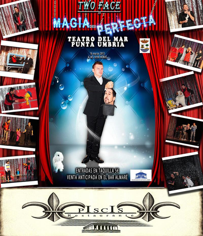 Espectáculo de magia en el Teatro del Mar de Punta Umbría a cargo de la compañía 'Two Face'