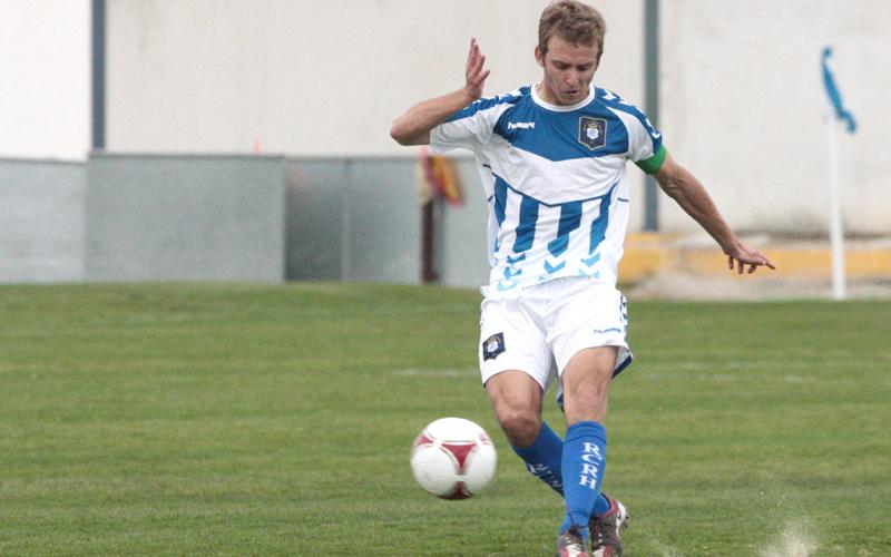 El centrocampista Jorge Merino, uno canteranos convocados por Sergi. / Foto: Josele Ruiz.