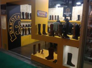 Stand de Dakota Boots en la Feria Internacional del Calzado de Milán, Micam Shoevent 2013.