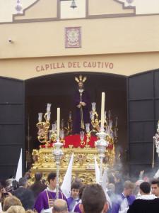 Cuenta atrás para la salida del Cristo Cautivo el próximo Lunes Santo.