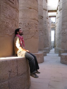 En el Templo de Karnak, Egipto.