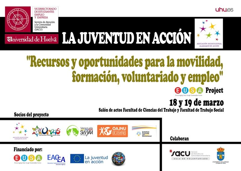 Cartel de las Jornadas de Juventud de la Uhu.