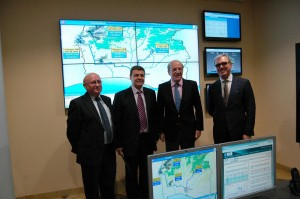 La nueva sala de telecontrol de Aguas de Huelva.