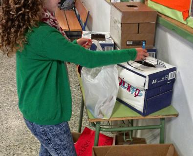 El instituto San Blas de Aracena recicla sus instrumentos de escritura para darles una solución sostenible