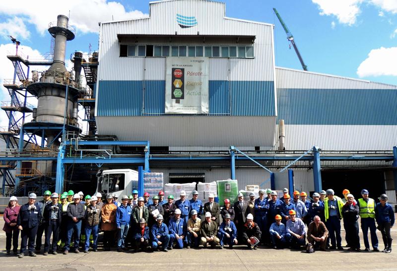 La plantilla de Atlantic Copper ha realizado una recogida de alimentos.