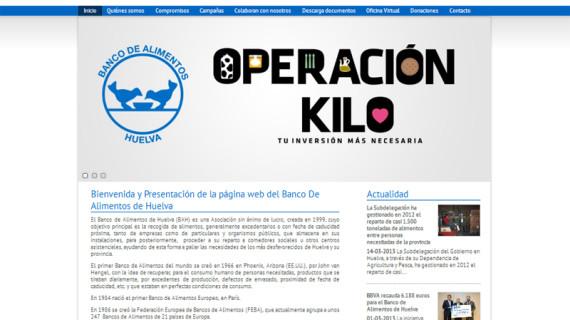 El Banco de Alimentos de Huelva estrena página web que incluye una oficina virtual