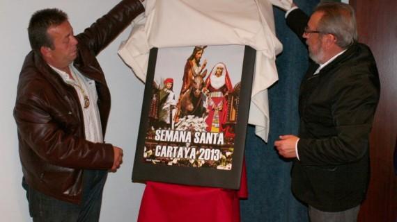 Una imagen de La Borriquita, protagonista del Cartel de la Semana Santa cartayera