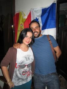 Carmen con su novio, Jose, con quien se marchó a Panamá.