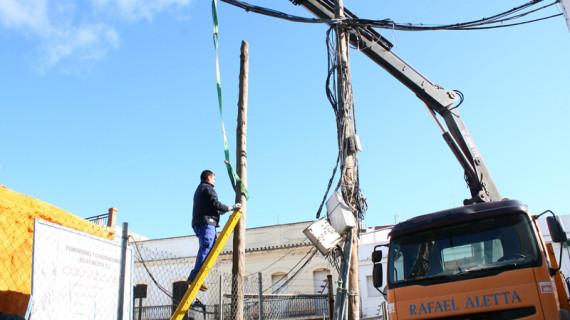 Cartaya realiza obras en la calle Frailes para garantizar la seguridad de los peatones