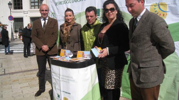 La campaña de prevención de riesgos laborales en las pymes llega a las calles de Huelva