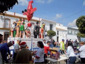 Las fallas de San Juan son las únicas que se celebran en la provincia de Huelva. / Foto: Juan Antonio Ruiz.