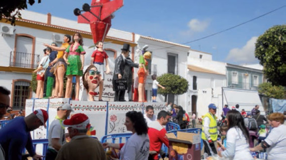 San Juan del Puerto celebra las Fiestas Falleras de San José, únicas en la provincia de Huelva