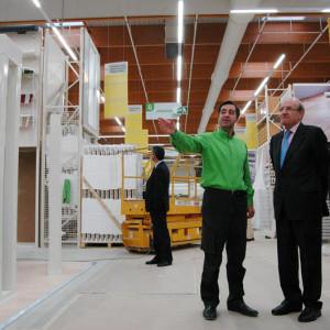 Rodríguez y Adame visitaron la nueva sede de Leroy Merlín.