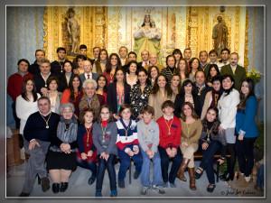 Imagen de los Mayordomos de Piedras Albas 2013.