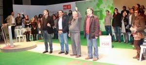 Navarrete, en Nerva junto a Javier Barrero, Ignacio Caraballo y Mario Jiménez.