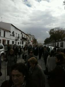 La comitiva ha partido de El Chaparral hacia Almonte.