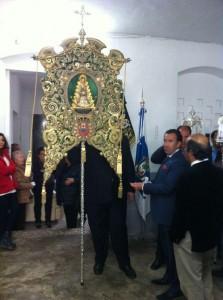 El Simpecado de la Hermandad del Rocío de Huelva.