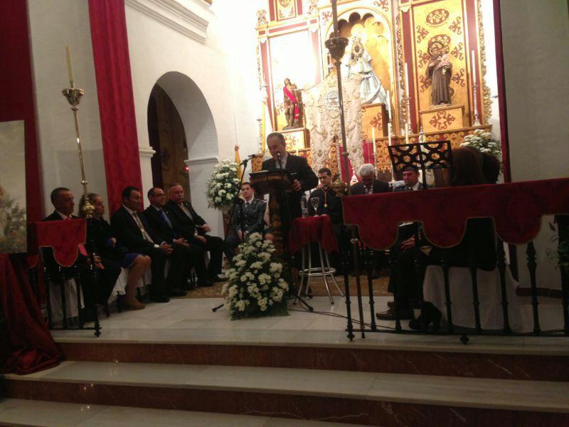 Imagen del pregón de Piedras Albas, celebrado en El Almendro.