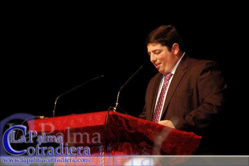 Alfonso Madrid ha pregonado también a la Semana Santa de su pueblo, La Palma del Condado.