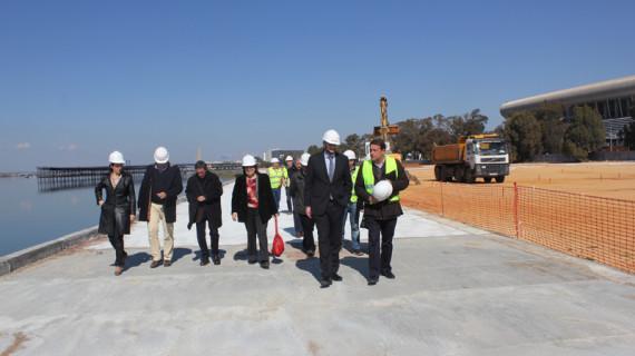 El Puerto inicia las obras de la segunda fase del Paseo Fluvial en la Ría del Odiel