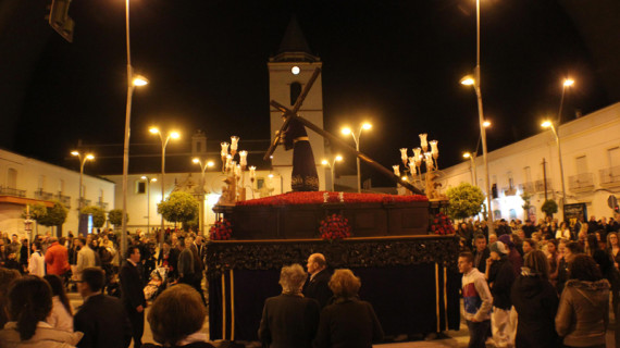 El Gran Poder de San Juan del Puerto procesionó en la noche del Jueves Santo