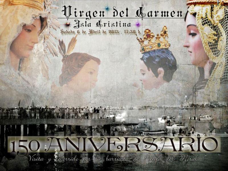 Cartel 150 Aniversario Virgen del Carmen.