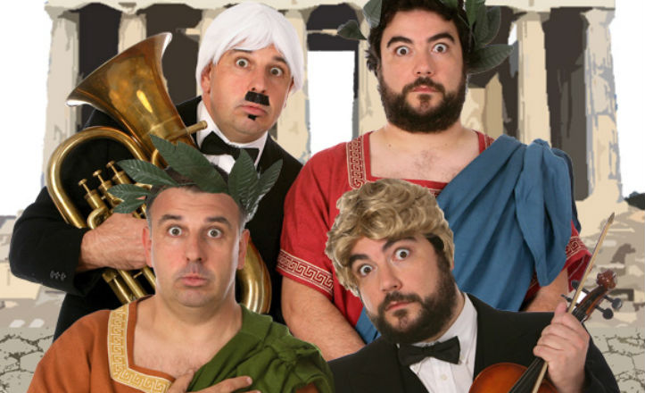 Los actores de la obra 'Humor platónico'.