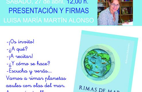 Luisa María Martín presenta el poemario infantil 'Rimas de mar' en la Feria del Libro de Huelva