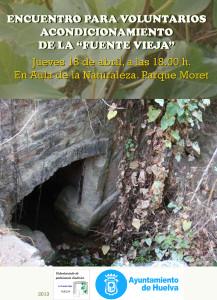 Cartel de la reunión convocada para el voluntariado del Parque Moret.