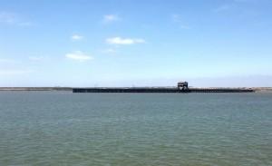 Zona del Muelle de Tharsis en la Ría, lugar del descubrimiento
