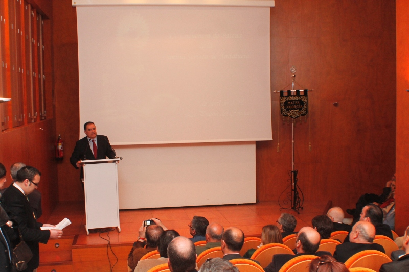 Juan Carlos Lagares, durante las palabras de bienvenida que dirigió a los participantes en el encuentro.