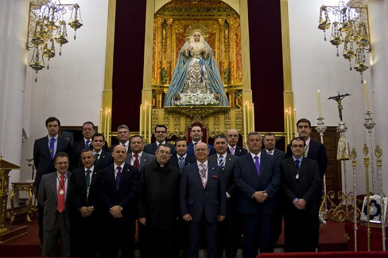 Foto oficial de la nueva junta de gobierno.
