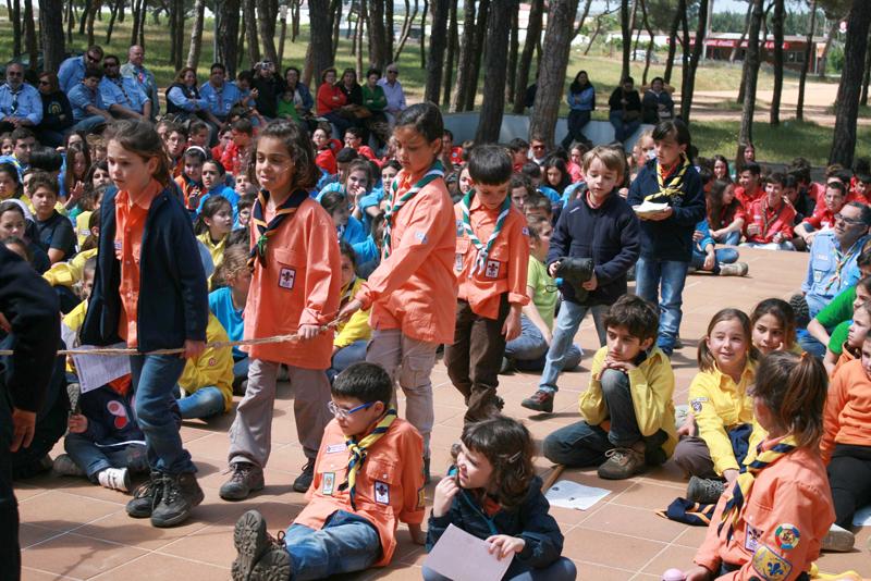 Cientos de scouts se dieron cita en la Pradera de San Isidro de Cartaya.