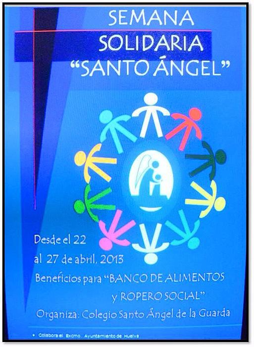 Cartel de la Semana Solidaria del Colegio Santo Ángel.