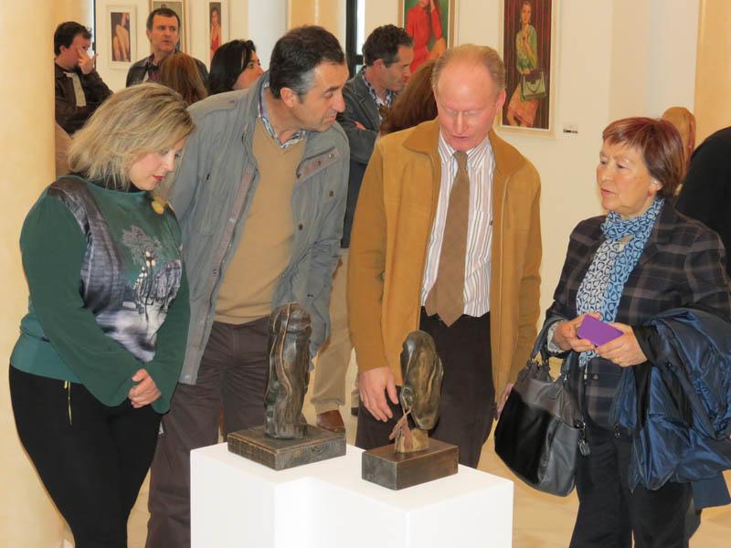 Ceferino Férnández, durante la inauguración del muestra.