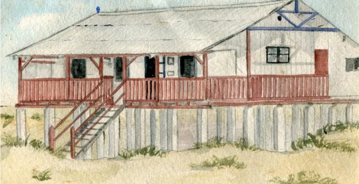 """Un bungalow alemán entre las """"casas de los ingleses"""" de Punta Umbría"""