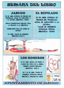 Cartel de la Semana del LIbro de Jabugo.