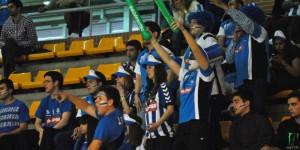La afición de Huelva animó a los suyos en todo momento.