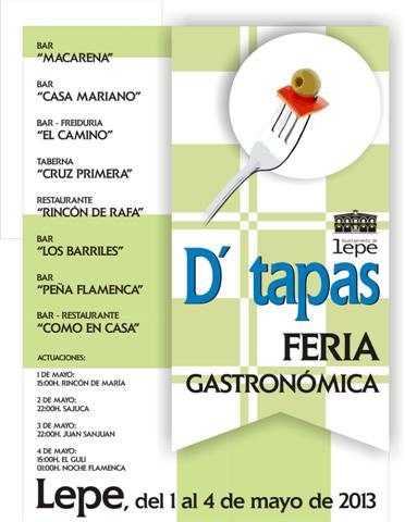 Cartel de Feria D'tapas.