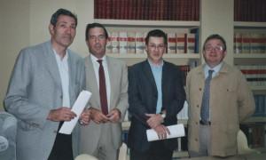 José Ángel Sainz, Miguel Ferre, Emilio González y Tomás Giménez.