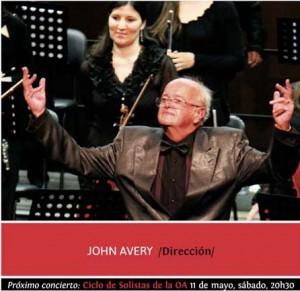 El director de orquesta John Avery.