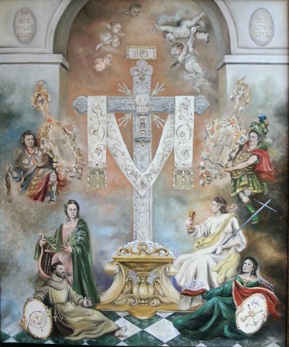Cartel de la Cruz de la calle Cabo.