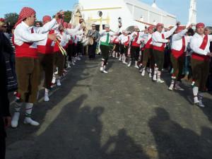 Un momento de la procesión de la Virgen de Piedras Albas, celebrada este martes.